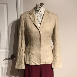 Linen Collared Hide Buttons Structured Casual Work